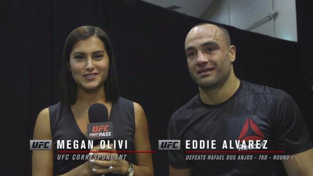 Video: Megan Olivi intervjuar Eddie Alvarez bakom kulisserna