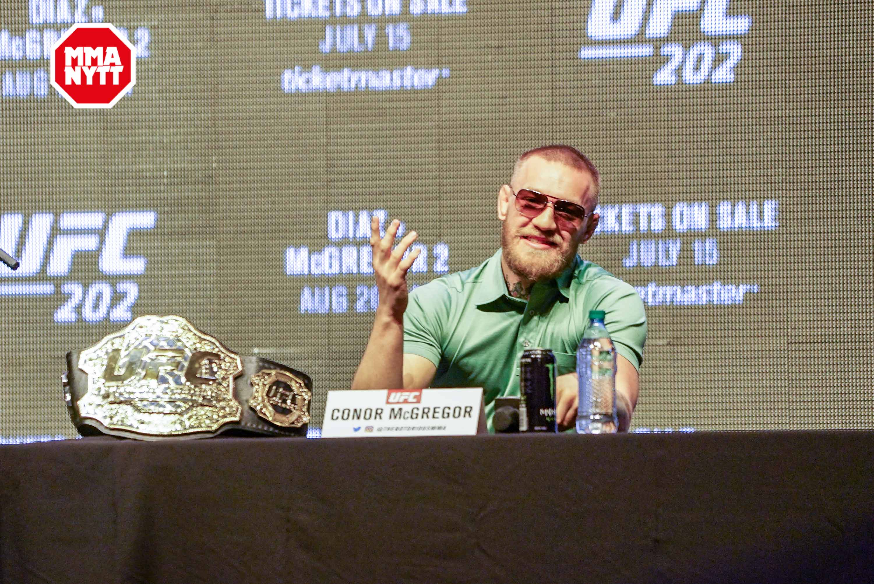 UFC 200 Las Vegas Conor McGregor 20160707 MMAnytt.se Media Day Vince Cachero