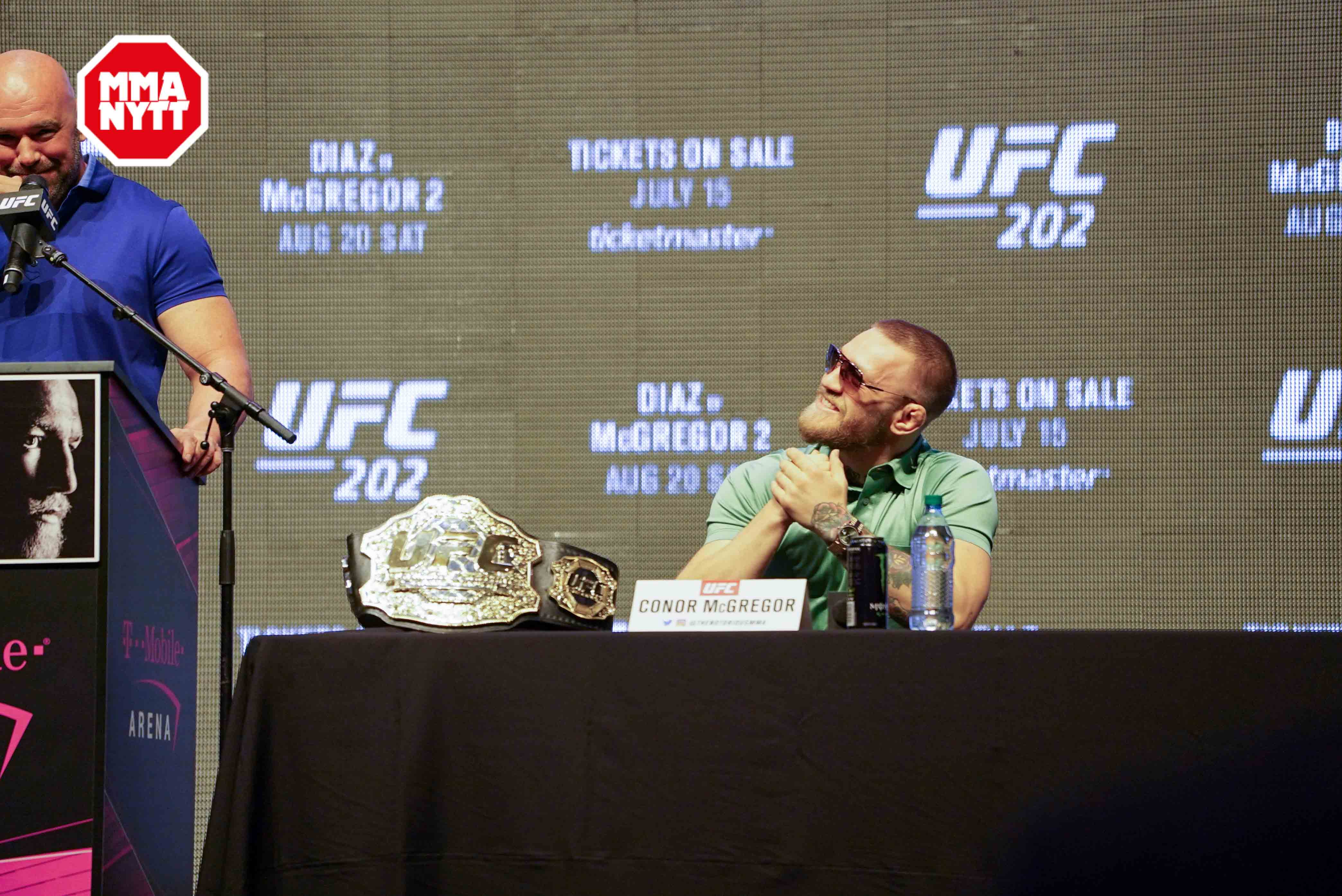 UFC 200 Las Vegas Conor McGregor Dana White 20160707 MMAnytt.se Media Day Vince Cachero