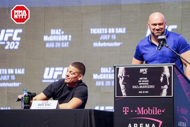 UFC 200 Las Vegas Nate Diaz Dana White 20160707 MMAnytt.se Media Day Vince Cachero 4
