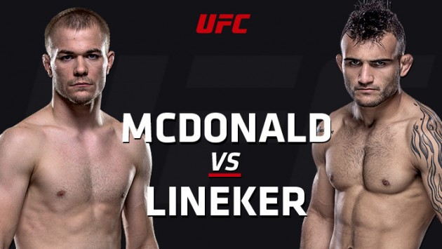 UFC Fight Night 91: McDonald vs. Lineker – Liveresultat och Livestatistik