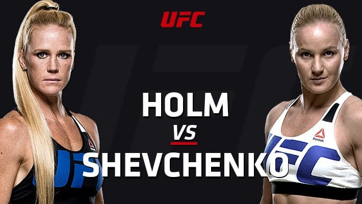 UFC on FOX 20 Holm vs Shevchenko