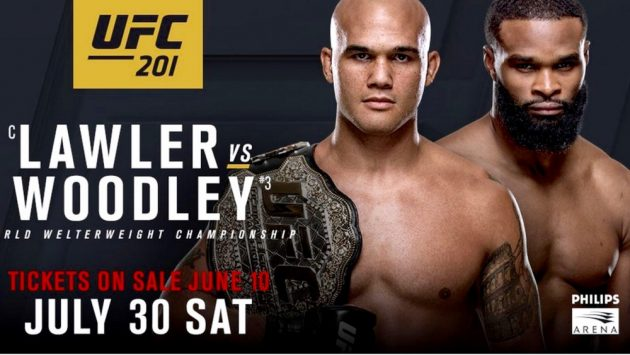 UFC 201 Tyron Woodley vs Robbie Lawler: Resultat