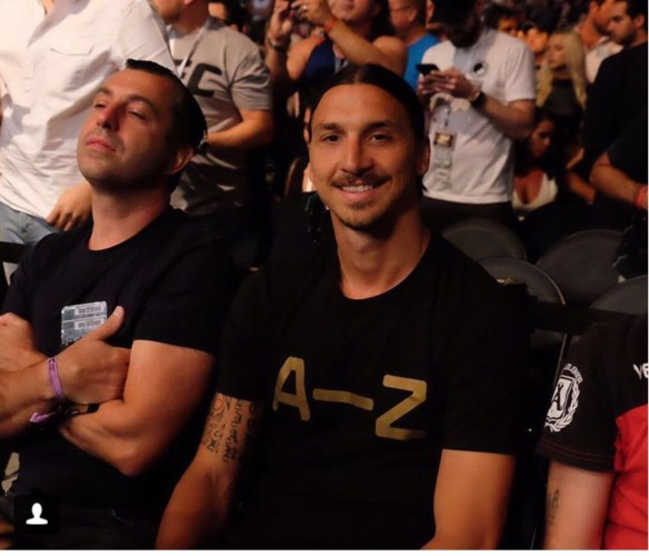 Zlatan Ibrahimovic ringside för UFC 200