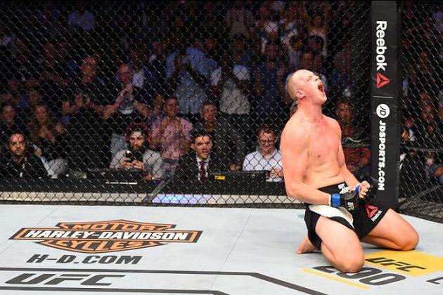 "Struve efter KO-vinsten mot Antonio ""Bigfoot"" Silva. Foto: Josh Hedges/Zuffa LLC/Zuffa LLC via Getty Images"