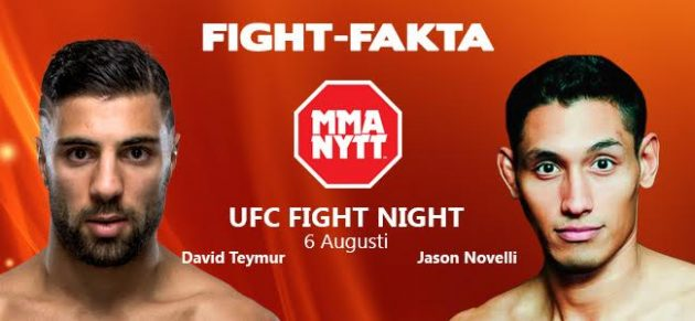 Fight-Fakta: David Teymur vs. Jason Novelli