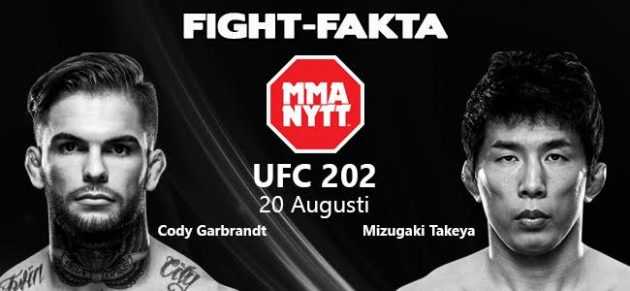 Fight-Fakta: Cody Garbrandt vs. Takeya Mizugaki