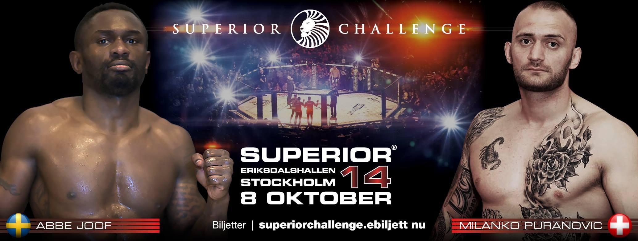 Superior Challenge 14 - Abbe Joof vs. Milanko Puranovic