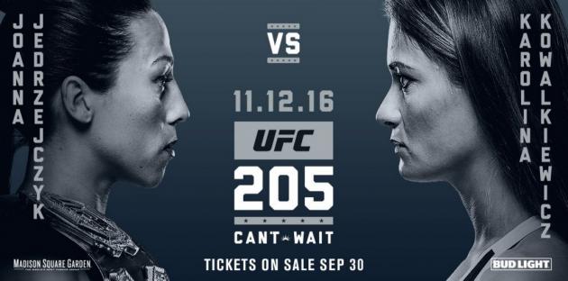 Joanna Jedrzejczyk vs. Karolina Kowalkiewicz och två andra matcher klara för UFC 205