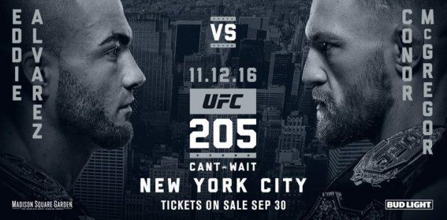 Fullständigt matchkort och alla oddsen inför UFC 205 – största galan någonsin!