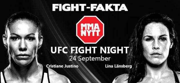 "Fight-Fakta: Cristiane ""Cyborg"" Justino vs. Lina Länsberg"