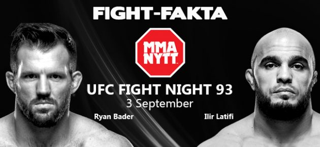 Fight-Fakta: Ryan Bader vs. Ilir Latifi
