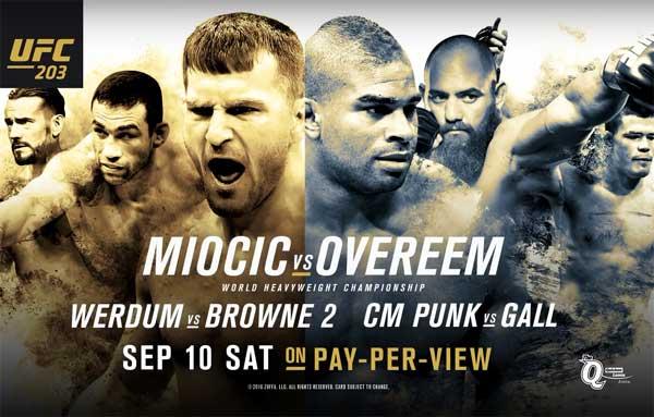 UFC 203: Miocic vs. Overeem – Matchkortet, Tiderna och Oddsen – Uppdaterat
