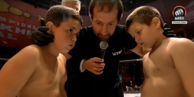 Ryska straffet för galan med barn som tävlade i MMA, ett strängt brev
