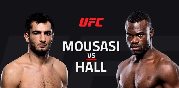 UFC Fight Night 99: Mousasi vs. Hall II – Livestatistik och Resultat
