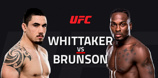 UFC Fight Night 101: Whittaker vs. Brunson – Livestatistik och Resultat