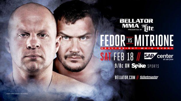 Bellator 172: Fedor vs. Mitrione – Matchkortet, Tiderna och Oddsen