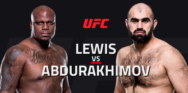UFC Fight Night 102: Lewis vs. Abdurakhimov – Livestatistik och Resultat