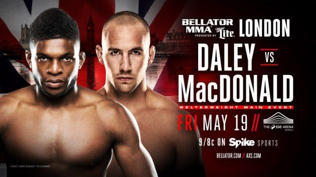 Ny match klar för Bellator 179: Daley vs. Macdonald i London
