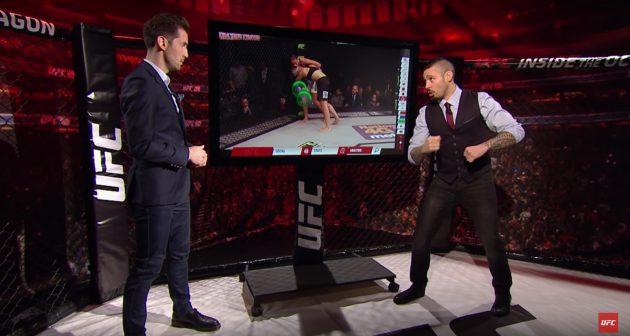 Video: Dan Hardy bryter ner titelmatchen mellan Holm och de Randamie