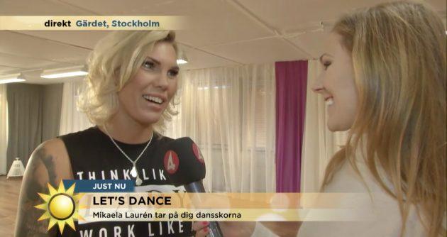 "Mikaela Laurén klar för ""Let's Dance"" 2017"