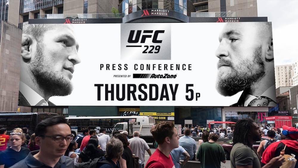 UFC 229 Khabib vs McGregor presskonferens