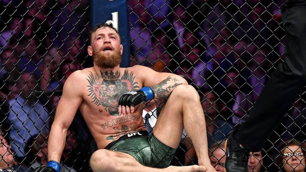 Conor McGregor efter förlusten mot Khabib Nurmagomedov på UFC 229.