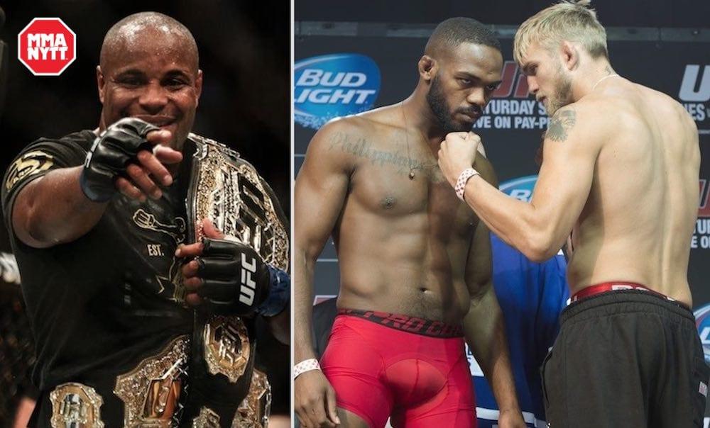 Daniel Cormier Jon Jones Alexander Gustafsson UFC MMA MMAnytt
