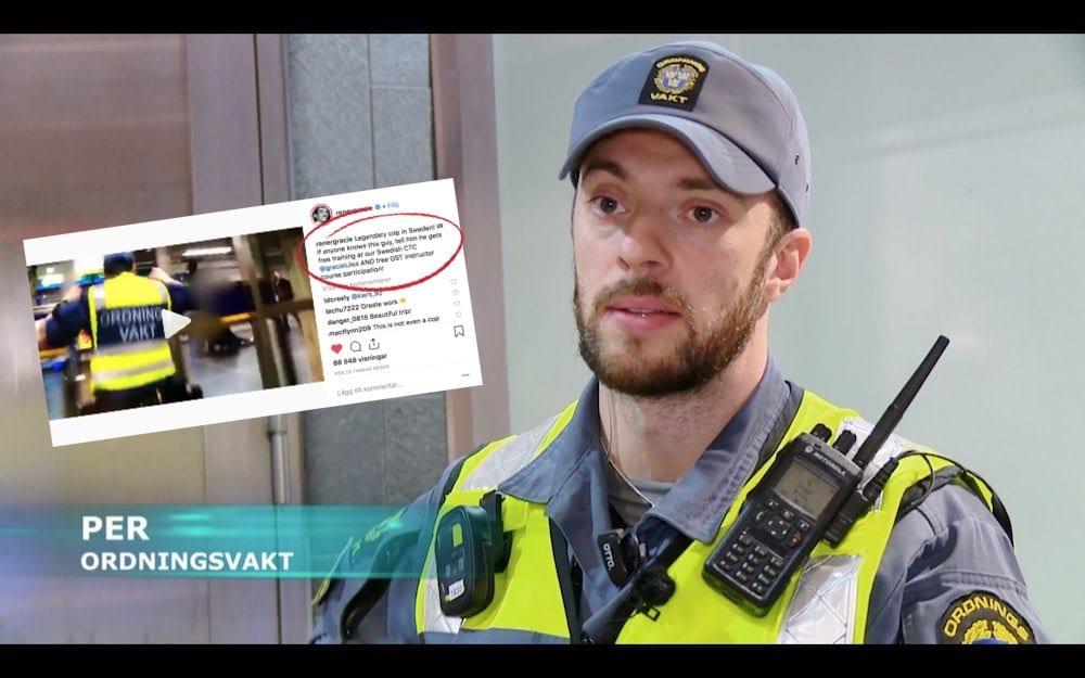 Ordningsvakten Per Bäckvall Gracie