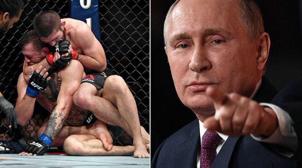 Vladimir Putin Khabib NUrmagomedov Conor McGregor UFC 229