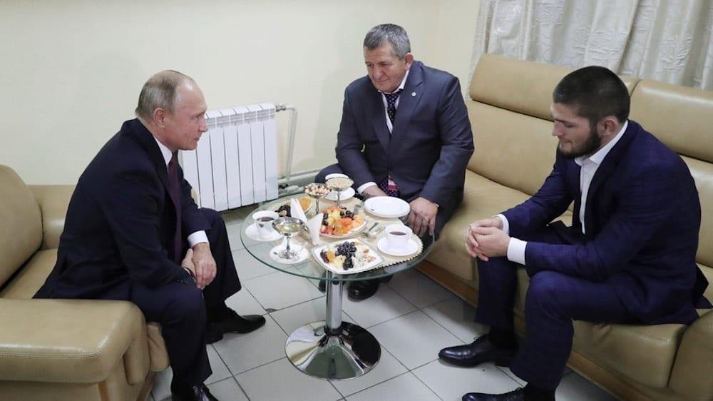 Vladimir Putin Khabib Nurmagomedov Abdulmanap Nurmagomedov