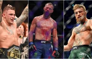 Dustin Poirirer (© John David Mercer-USA TODAY Sports) Donald Cerrone (© Jerry Lai-USA TODAY Sports) Conor McGregor (© Stephen R. Sylvanie-USA TODAY Sports)