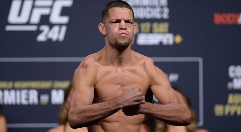 Nate Diaz Weigh In UFC 241 Foto USA TODAY Sports