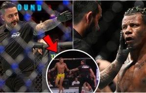 Domare Rebin Saber i skandal på UFC Danmark.