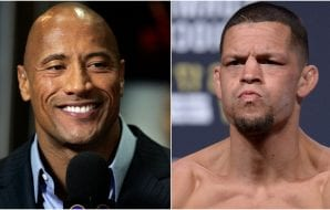 "The Rock ""The Rock"" Nate Diaz UFC"