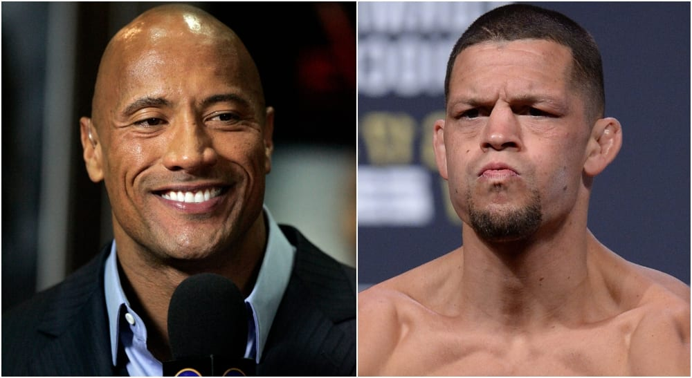 "The Rock ""The Rock"" Nate Diaz UFC"
