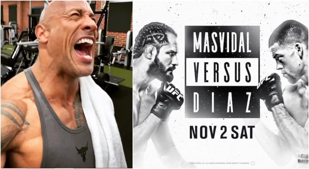 The Rock UFC 244