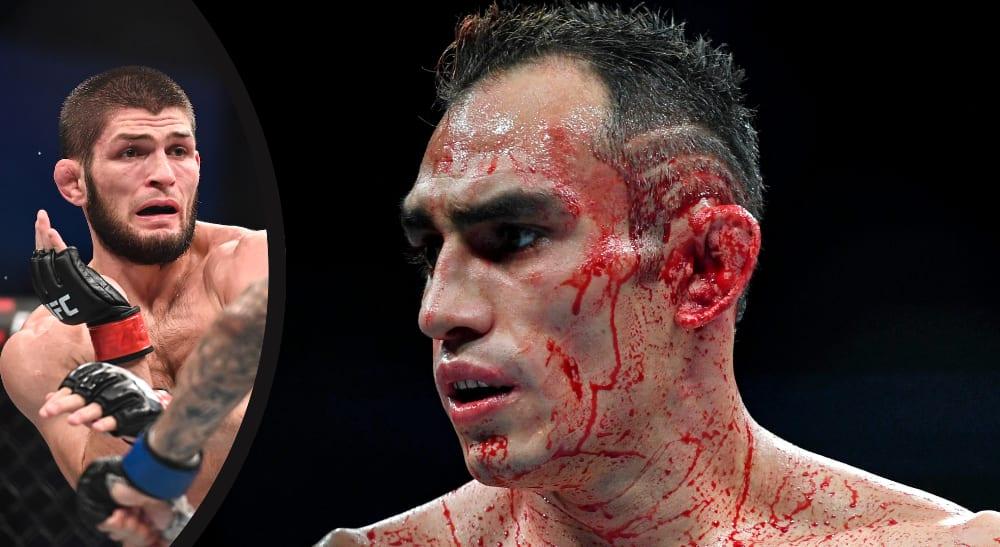 Khabib Tony Ferguson UFC MMA UFC 249: Khabib vs. Ferguson lättvikt hemlig plan