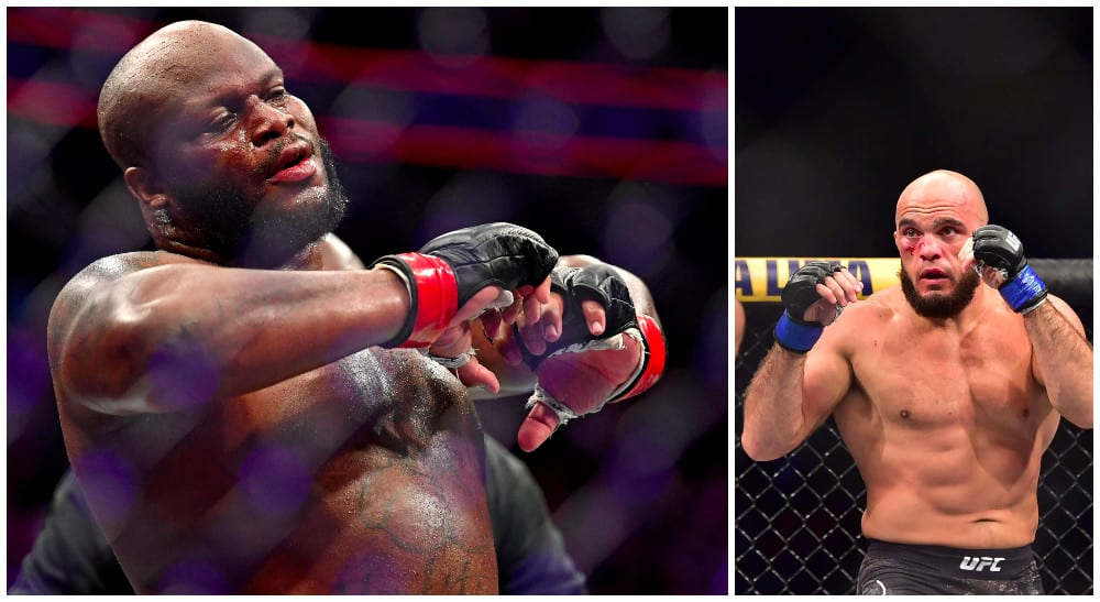 Derrick Lewis (© Stephen R. Sylvanie USA Today Sports) Ilir Latifi (© Jason Silva-USA TODAY Sports)