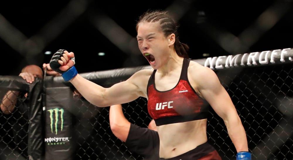 Weili Zhang Joanna forsvar MMA UFC