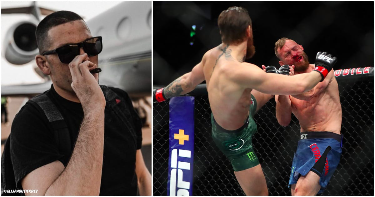 Nate Diaz Conor McGregor Donald Cerrone (Pictures via @elijahgutierrez & © Mark J. Rebilas-USA TODAY Sports)