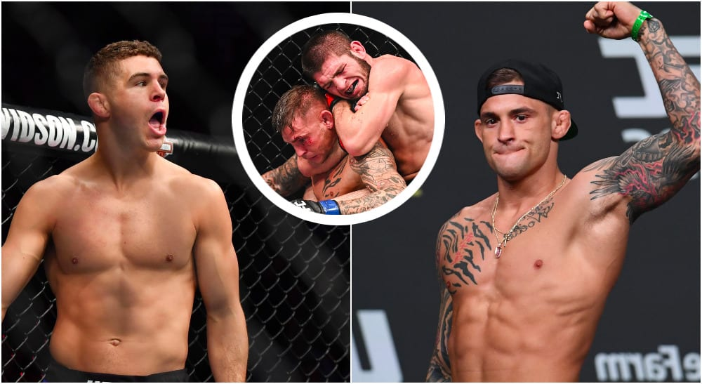 Al Iaquinta Dustin Poirier (© Per Haljestam © Adam Hagy © Christopher Hanewinckel-USA TODAY Sports)