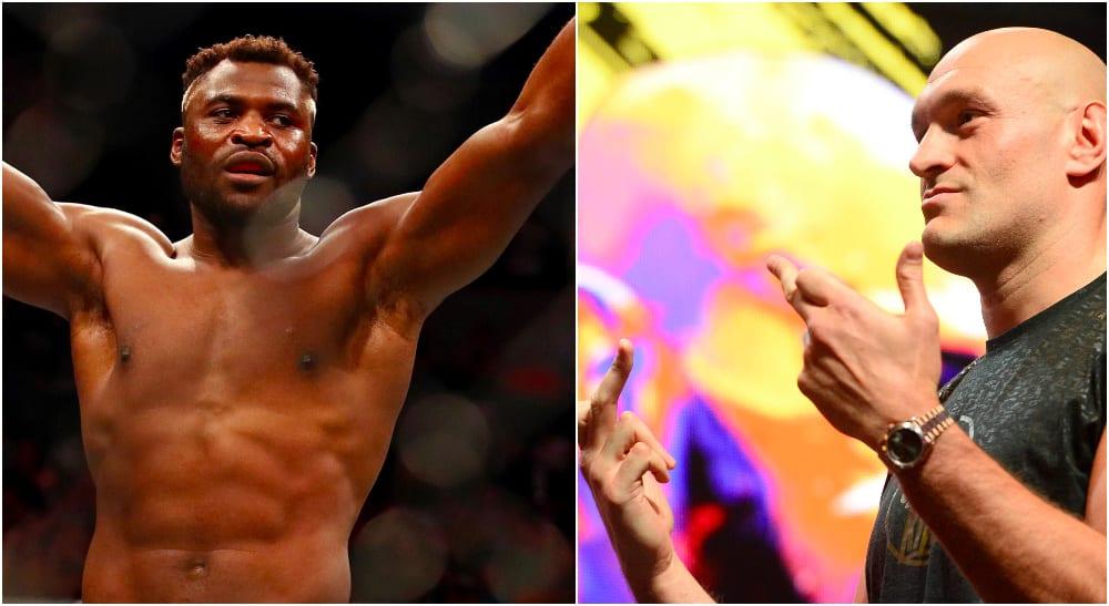 Francis Ngannou Tyson Fury (© David Berding & © Joe Camporeale-USA TODAY Sports)