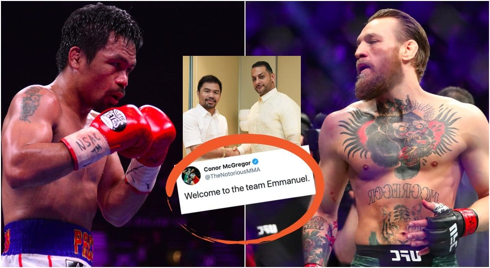 Manny Pacquiao vs Conor McGregor (© Joe Camporeale © Mark J. Rebilas-USA TODAY Sports)