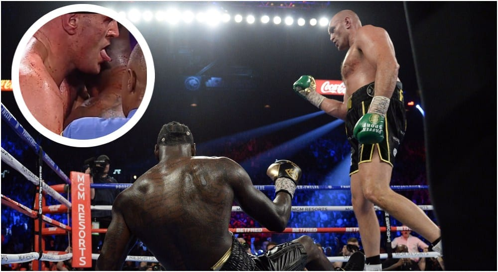 Tyson Fury Deontay Wilder (© Joe Camporeale-USA TODAY Sports)