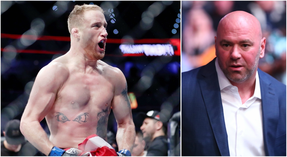 Dana White Justin Gaethje UFC MMA Usa Today Sports