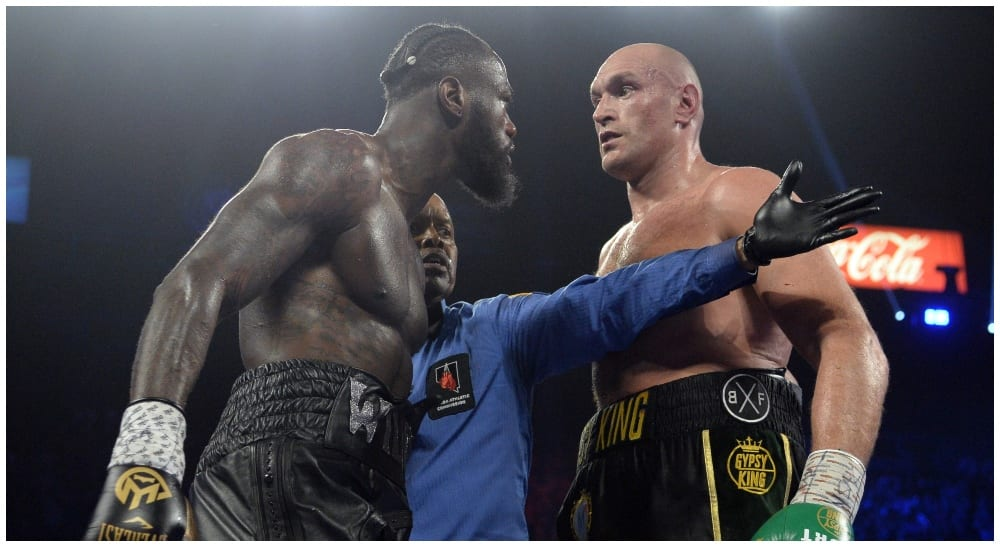 Deontay Wilder Tyson Fury (© Joe Camporeale-USA TODAY Sports)