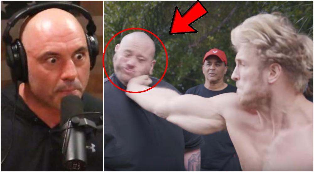 Joe Rogan Logan Paul slap Foto YouTube-screenshots Logan Paul Joe Rogan UFC MMA