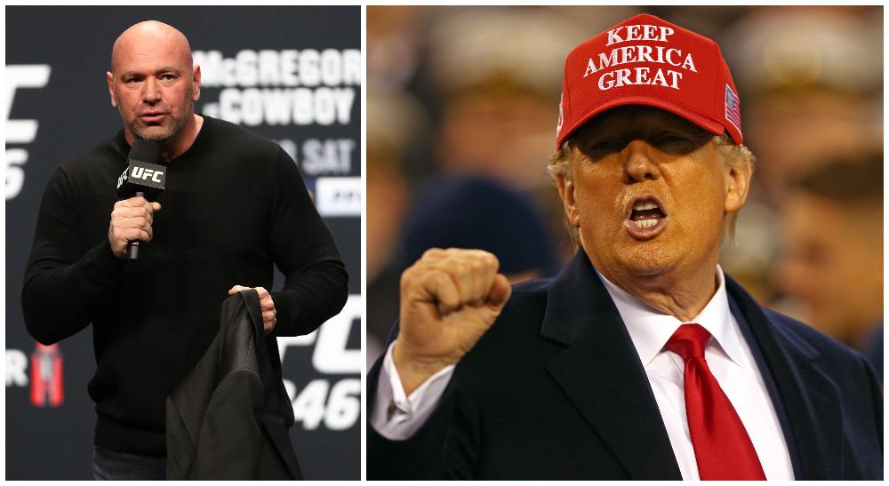 UFC-bossen Dana White och USA:s president Donald Trump