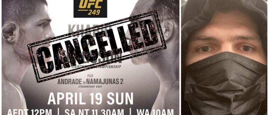 Khabib Nurmegomedov Tony Ferguson insta?lld UFC 249
